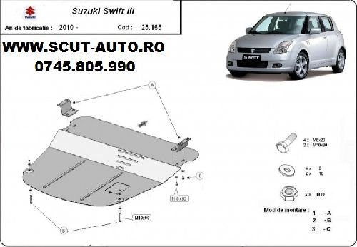 Scut motor metalic Suzuki Swift 2 dupa 2005
