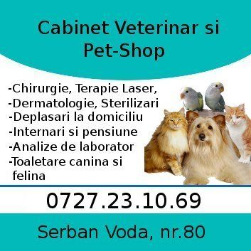 CABINET VETERINAR ?I PET-SHOP